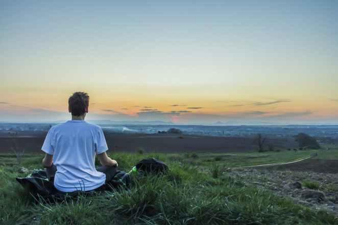 calm daylight evening grass