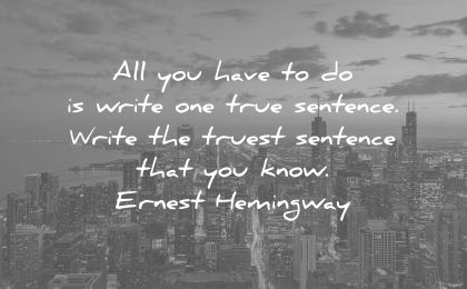 one true sentence